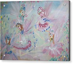 Act  Two Fairies Acrylic Print by Judith Desrosiers