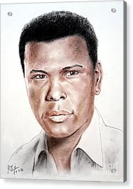 Actor Sidney Poitier Acrylic Print by Jim Fitzpatrick