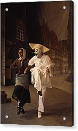 Actors Perform Pantomimes At Tivoli Acrylic Print by Sisse Brimberg
