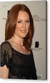 Actress Julianne Moore Attends Acrylic Print by Everett