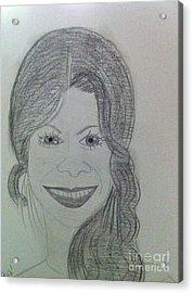 Actress Zoe S. Acrylic Print by Charita Padilla