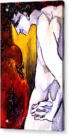Adam And Eve Acrylic Print by Eszter Gyory