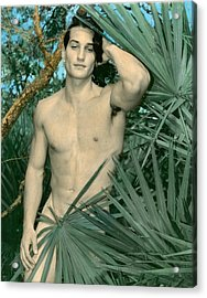 Adam In Paradise 2 Acrylic Print by Jean-claude Poulin