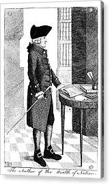 Adam Smith, Scottish Philosopher & Acrylic Print by Photo Researchers