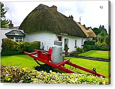 Acrylic Print featuring the photograph Adare Cottage by Charlie and Norma Brock