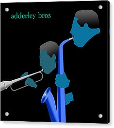Adderley Brothers Acrylic Print by Victor Bailey