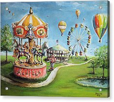 Acrylic Print featuring the painting Carnival by Bernadette Krupa