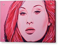Adele Acrylic Print by Derek Donnelly