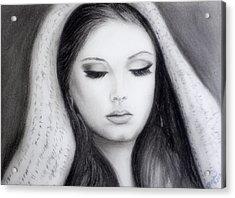 Adele Acrylic Print by Gina Cordova