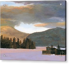 Adirondack Morning Acrylic Print by Lynne Reichhart