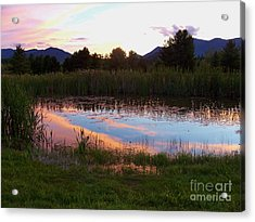 Adirondack Reflection 1 Acrylic Print by Peggy Miller