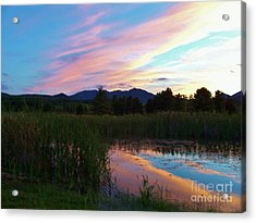Adirondack Reflections 2 Acrylic Print by Peggy Miller
