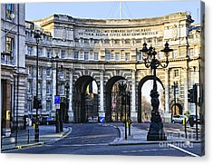 Admiralty Arch In Westminster London Acrylic Print by Elena Elisseeva