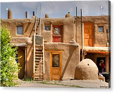 Adobe Homes Acrylic Print by Stellina Giannitsi