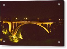 Acrylic Print featuring the photograph Adolphe Bridge  by Dennis Lundell