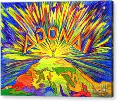 Adonai Acrylic Print by Nancy Cupp
