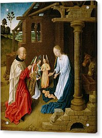 Adoration Of The Christ Child  Acrylic Print by Master of San Ildefonso
