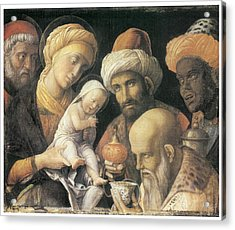 Adoration Of The Magi Acrylic Print by Andrea Mantegna