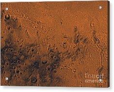 Aeolis Region Of Mars Acrylic Print by Stocktrek Images