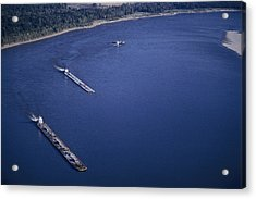 Aerial Of Mississippi River Acrylic Print by Kenneth Garrett