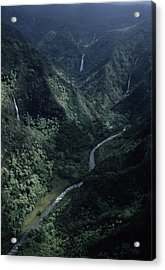 Aerial Of Olekole Canyon Acrylic Print by Ira Block