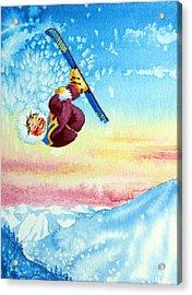 Aerial Skier 13 Acrylic Print by Hanne Lore Koehler