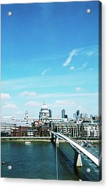 Aerial View Of A City Acrylic Print by Stockbyte