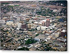 Acrylic Print featuring the photograph Aerial View Of Albuquerque by Lawrence Burry