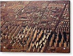 Aerial View Of Beijing Suburb, Tongzhou Distr Acrylic Print by Jialiang Gao