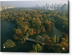 Aerial View Of Central Park Acrylic Print by Melissa Farlow