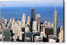 Aerial View Of Chicago Acrylic Print by Luiz Felipe Castro