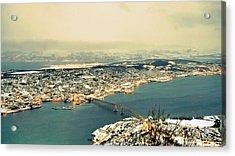 Aerial View Of City Acrylic Print by Piero Damiani