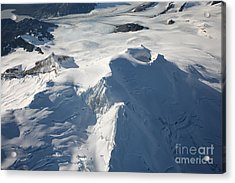 Aerial View Of Glaciated Mount Douglas Acrylic Print by Richard Roscoe