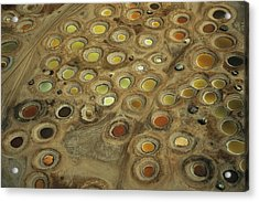 Aerial View Of Multi-colored Dyeing Acrylic Print by Bobby Haas