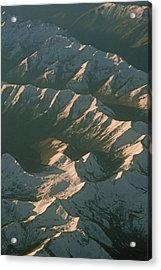 Aerial View Of Snowcapped Mountain Acrylic Print by Gordon Wiltsie