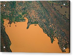 Aerial View Of Uncultivated Landscape Acrylic Print by Tobias Titz