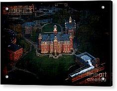 Aerial Woodburn Hall In Evening Acrylic Print by Dan Friend