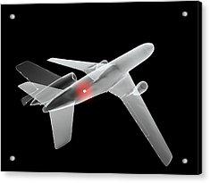 Aeroplane Bomb, Computer Artwork Acrylic Print by Christian Darkin