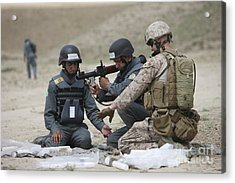 Afghan Police Students Assemble A Rpg-7 Acrylic Print