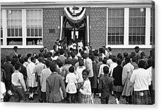 African American Children Entering Acrylic Print by Everett