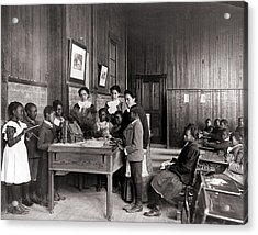 African American Children Learning Acrylic Print by Everett