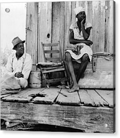African American Sharecroppers, Titled Acrylic Print by Everett