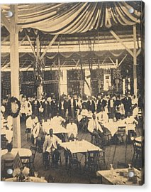 African American Waiters At A Banquet Acrylic Print by Everett