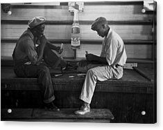 African American Young Men Play A Card Acrylic Print by Everett