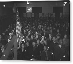 African Americans At A Tenants Meeting Acrylic Print by Everett