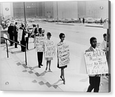 African Americans Protesting Black Acrylic Print