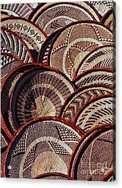 Acrylic Print featuring the photograph African Art Baskets by Werner Lehmann