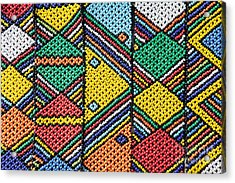 African Beadwork 1 Acrylic Print by Neil Overy