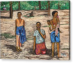 African Children Acrylic Print by Reb Frost