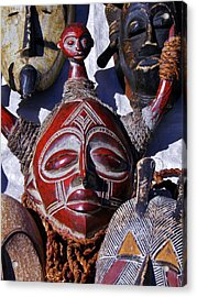 Acrylic Print featuring the photograph African Mask by Werner Lehmann